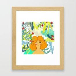 Let's be adventurers Girl Framed Art Print