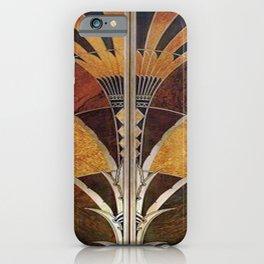 Art nouveau,Original wood work, elevator door, NYC Building iPhone Case