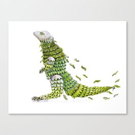Lizard. Defoliating Canvas Print