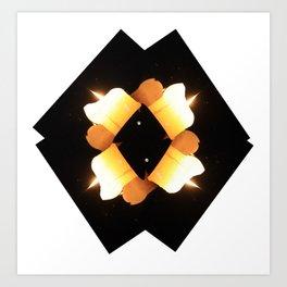 multiple burns Art Print