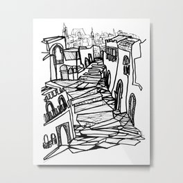 Old Cityscape of Morocco Metal Print