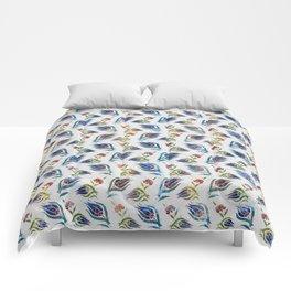 Turkish tulip - Ottoman tile pattern 1 Comforters