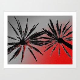 Palm Trees Wicked Art Print