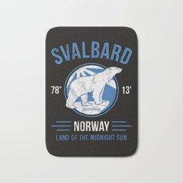 Svalbard Arctic Polar Bear - Midnight Sun in Longyearbyen Norway Bath Mat