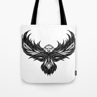 eagle Tote Bags featuring Eagle by Andreas Preis