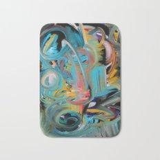The Storm Abstract Expressionism Art Bath Mat