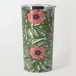 Tropical flowers Travel Mug