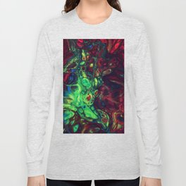 Abstract with green dominant Long Sleeve T-shirt