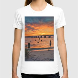 Railroad Bridge Sunset T-shirt