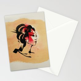 Spring Geisha Stationery Cards