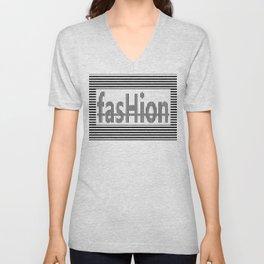 Fashion B and W Unisex V-Neck