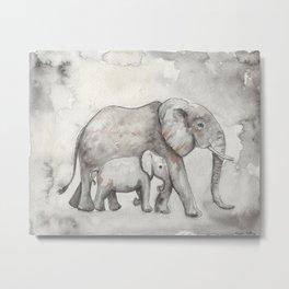 Elephants Metal Print