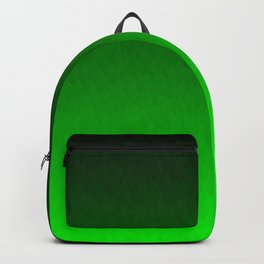 Black to green ombre flame Backpack