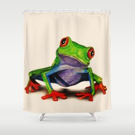 Mr. Ribbit Shower Curtain