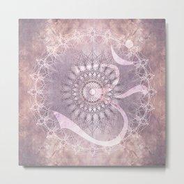 mandala madness with OM Metal Print