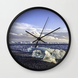 Jokulsarlon Lagoon Beach 05 Wall Clock