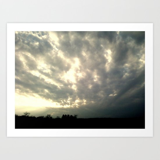 Nightfall Clouds Art Print