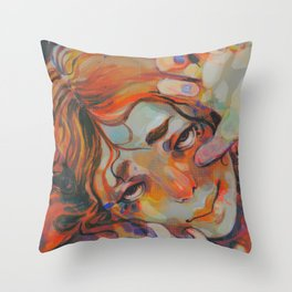 Mermaid Print Throw Pillow
