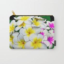 Plumeria Flowers Bouquet Carry-All Pouch