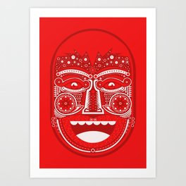Red Is Mad Art Print