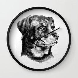 Rottweiler Devotion Wall Clock