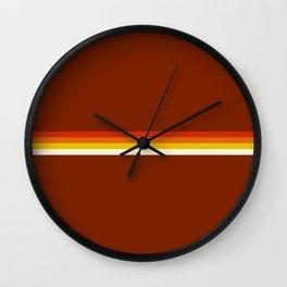 Amaterasu - Classic Retro Summer Stripes Wall Clock