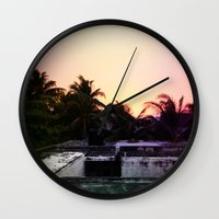 mexico Wall Clocks featuring Mexico by Lauren Emily