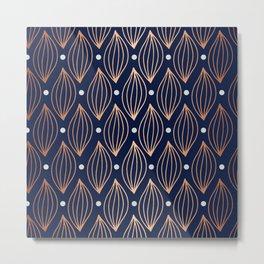 COPPER WAVE - NAVY BLUE Metal Print