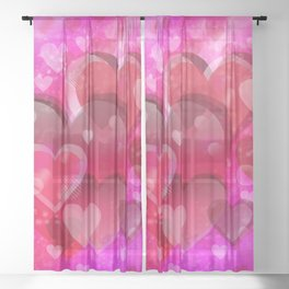 Love illustration to valentines day Sheer Curtain