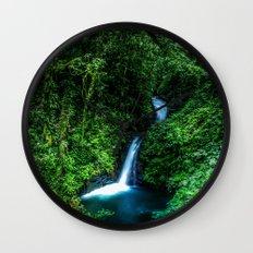Jungle Waterfall Wall Clock