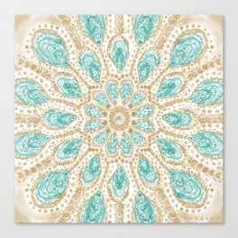 MMMOYSTERS Gold-Rimmed Oyster Mandala Canvas Print