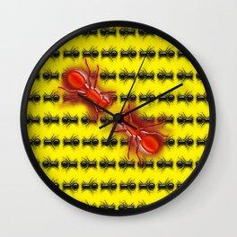 MATING DANCE Wall Clock