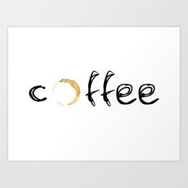 coffee... Art Print