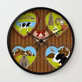 Welcome to the Mountains! (2) Wall Clock