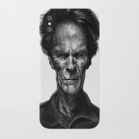 clint eastwood iPhone & iPod Cases featuring Clint Eastwood by Thomas Bryant