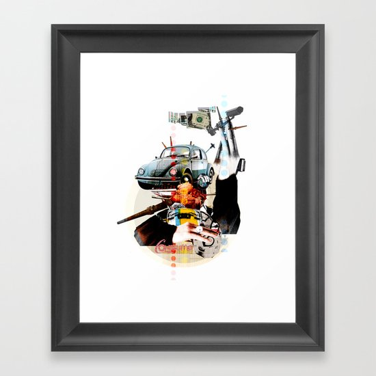 Modern Times - Consume Car (beetle) Framed Art Print