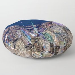 New York City Skyline Floor Pillow