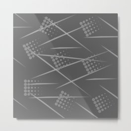 Gray abstract background. Grey Sport style Metal Print