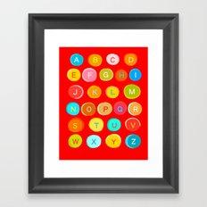 Red Alphabet Framed Art Print
