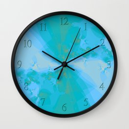 Shattered in Light Blue Wall Clock