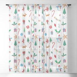 Feliz Natal! Sheer Curtain