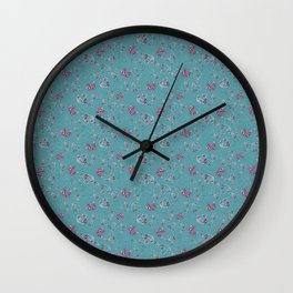 abstract rosettes pattern Wall Clock