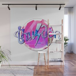 Thunder (pink and blue) Wall Mural
