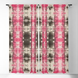 Abstract Pink and Green Shibori Blackout Curtain