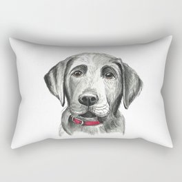 Black Lab Puppy Drawing Rectangular Pillow