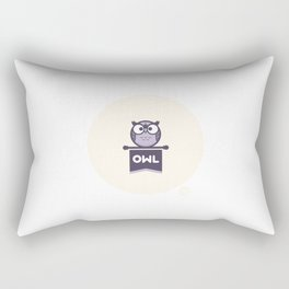 Owl Mascot Rectangular Pillow