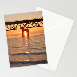 The Mackinac Bridge and the sun in between Stationery Cards