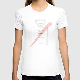 pink paint stroke perfume T-shirt