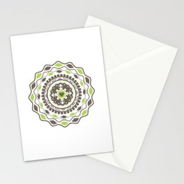 Heart Mandala – Green Stationery Cards