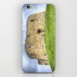 York Castle And Daffodils iPhone Skin